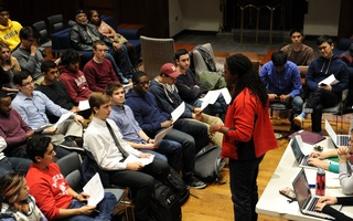 Greenlaw on Theater Performance Grant Cap at UC Meeting