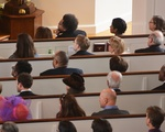 Attendees at Memorial Church Easter Service