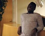 Freshman UC Representative Victor Agbafe at Ticknor Lounge
