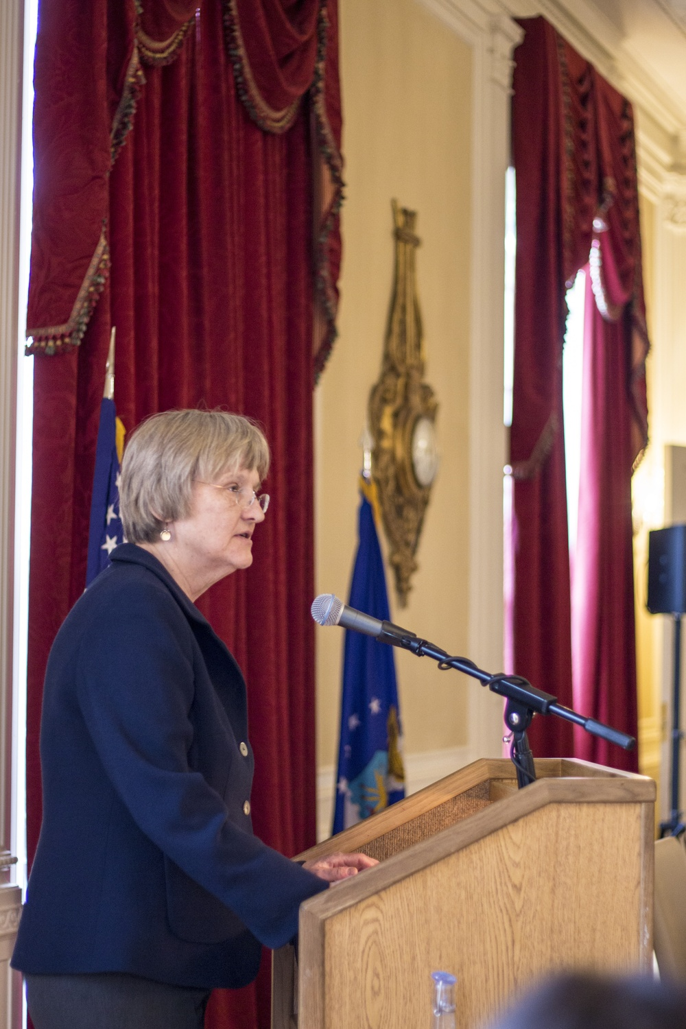 President Drew G. Faust at ROTC Airforce Signing Ceremony