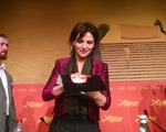 Juliette Binoche at Slack Bay Press Conference