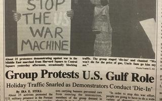 Gulf War Harvard Square Protest
