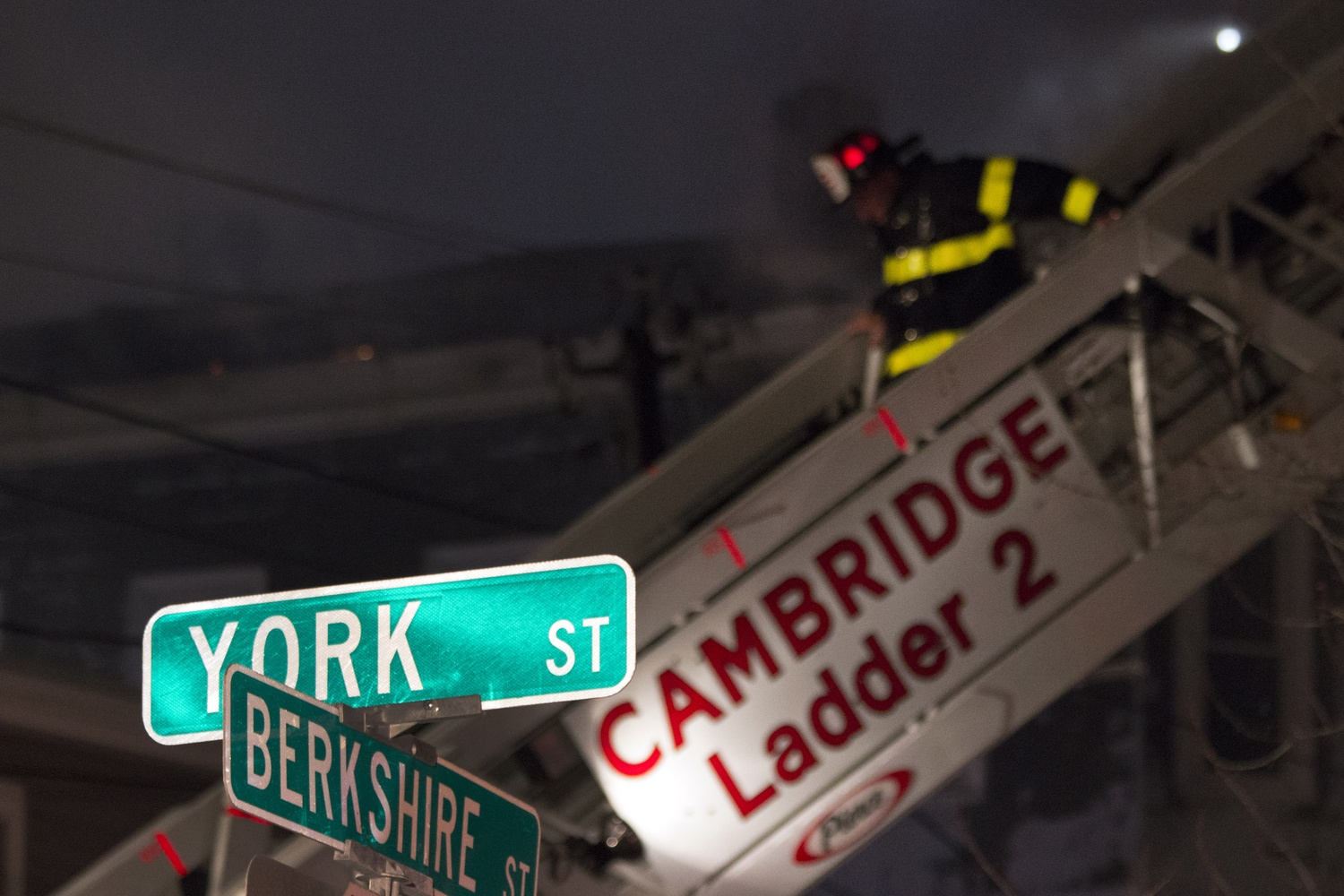 Fire in Cambridge Saturday Night