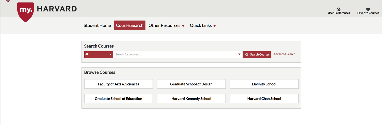 my.Harvard courses