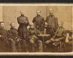 An 1861 photograph shows the surgeons and military leaders of the 20th Massachusetts Infantry Regiment. Paul J. Revere, Class of 1852, is fourth from the left.