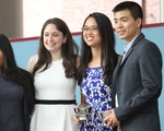 Yesenia L. Jimenez '17 and Liv F. Novick '17 with Ames Awards Recipients, Jennifer M. Hao '17 and Juhwan Seo '17