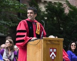 Dean Khurana at Freshman Convocation