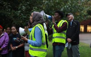 Charles Murray protestors