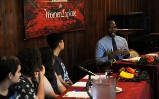 Scarborough Speaks at Democracy Center Event