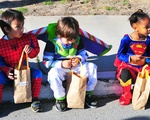 Trick or treating children