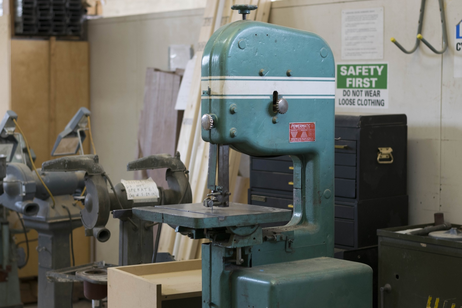 Band Saw in the Carpenter Center