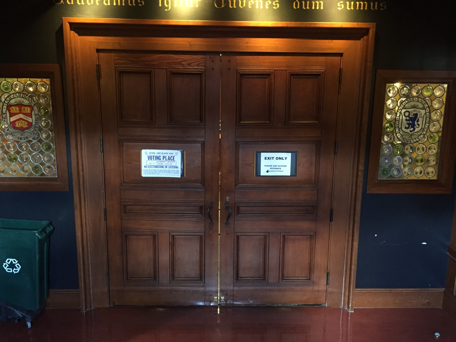 Doors to Voting Place