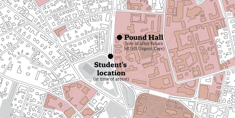 Arrest Map of Harvard