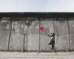 A Banksy mural in Berlin, Germany.