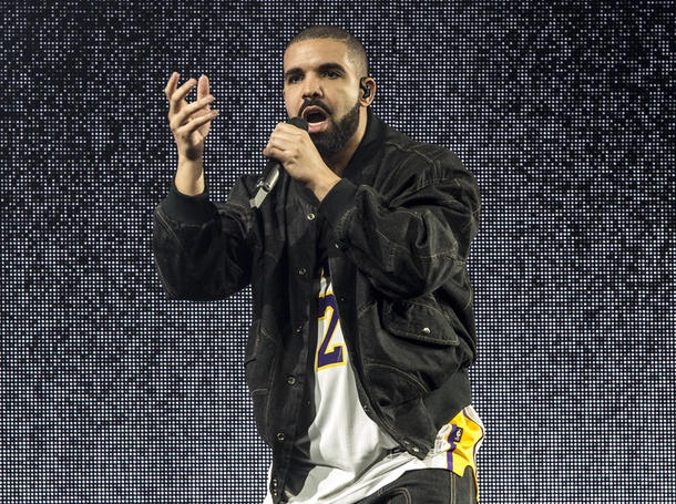 Drake in concert at The Forum in Los Angeles, CA.