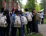 Tourists at Harvard