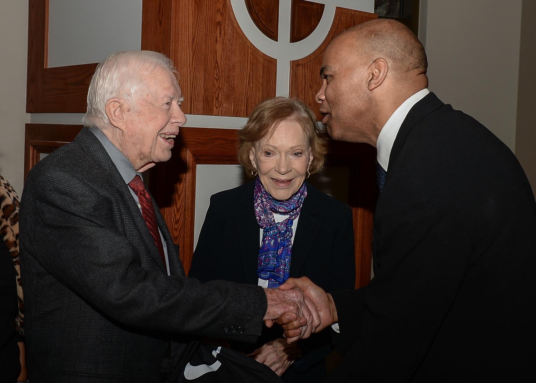 A Presidential Handshake