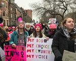 Boston Women's March protesters