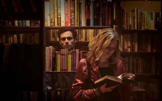 "Penn Badgley and Elizabeth Lail in ""You"""
