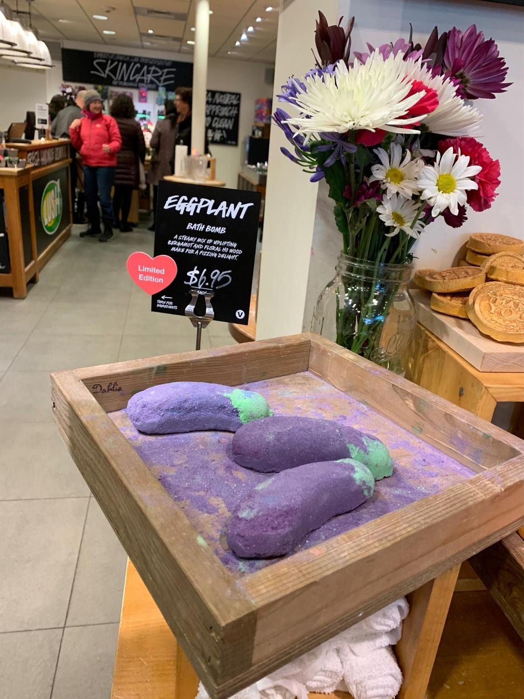 Lush Eggplant Bath Bombs