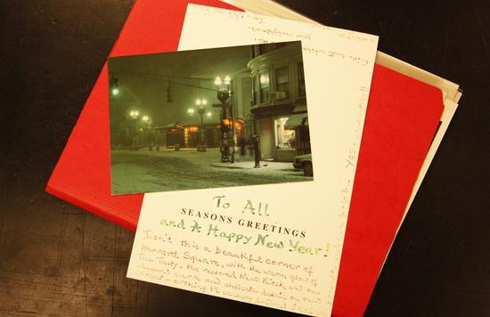 Postcard of Harvard Square