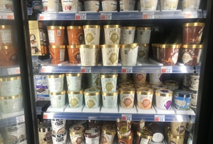 A Refrigerator full of Halo Top in CVS Harvard Square