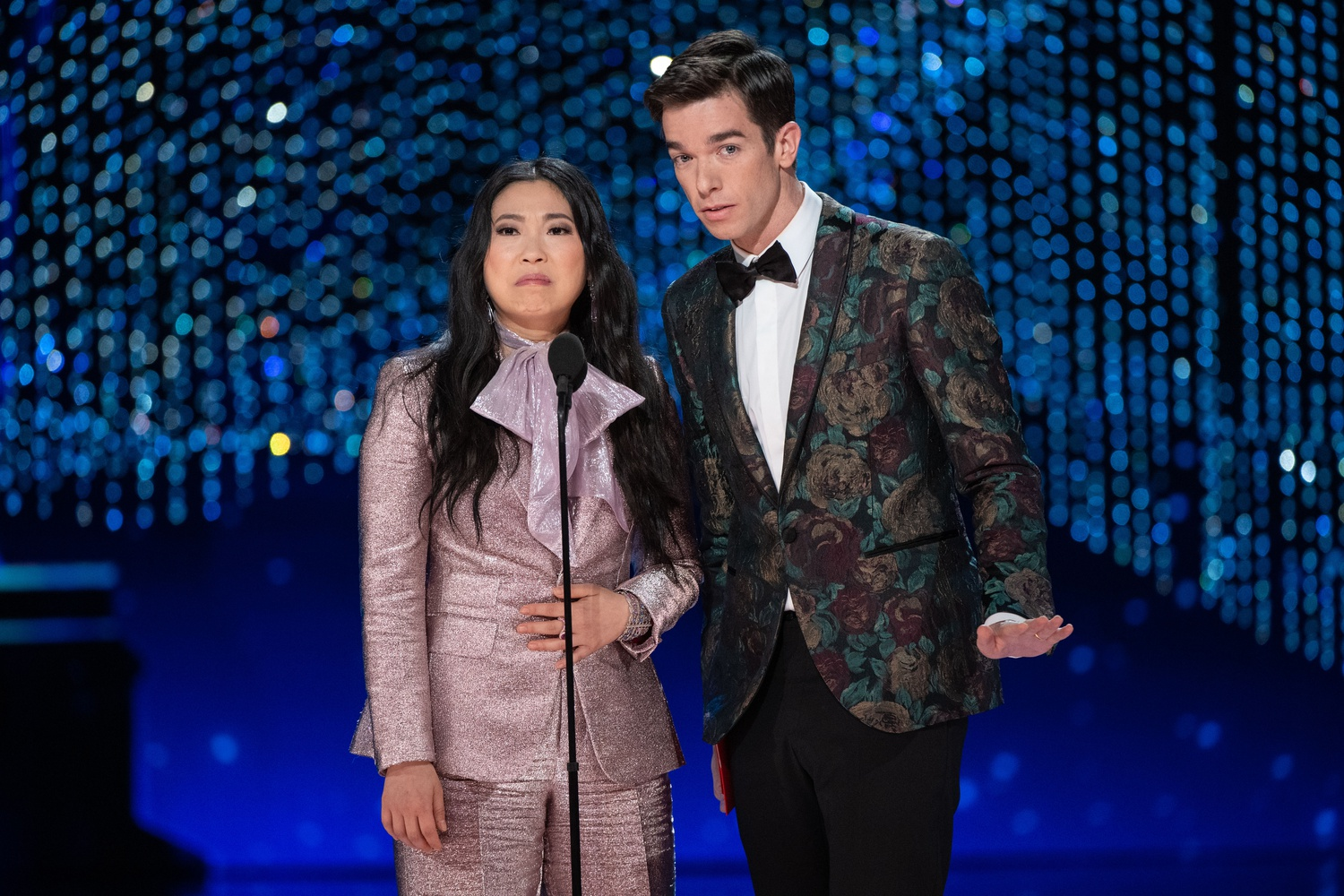 Awkwafina and John Mulaney Oscars