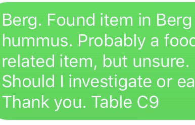HUDS Text Message