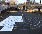 Moral Labyrinth Installation Progress