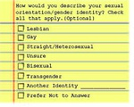 Datamatch Sexuality Checkbox