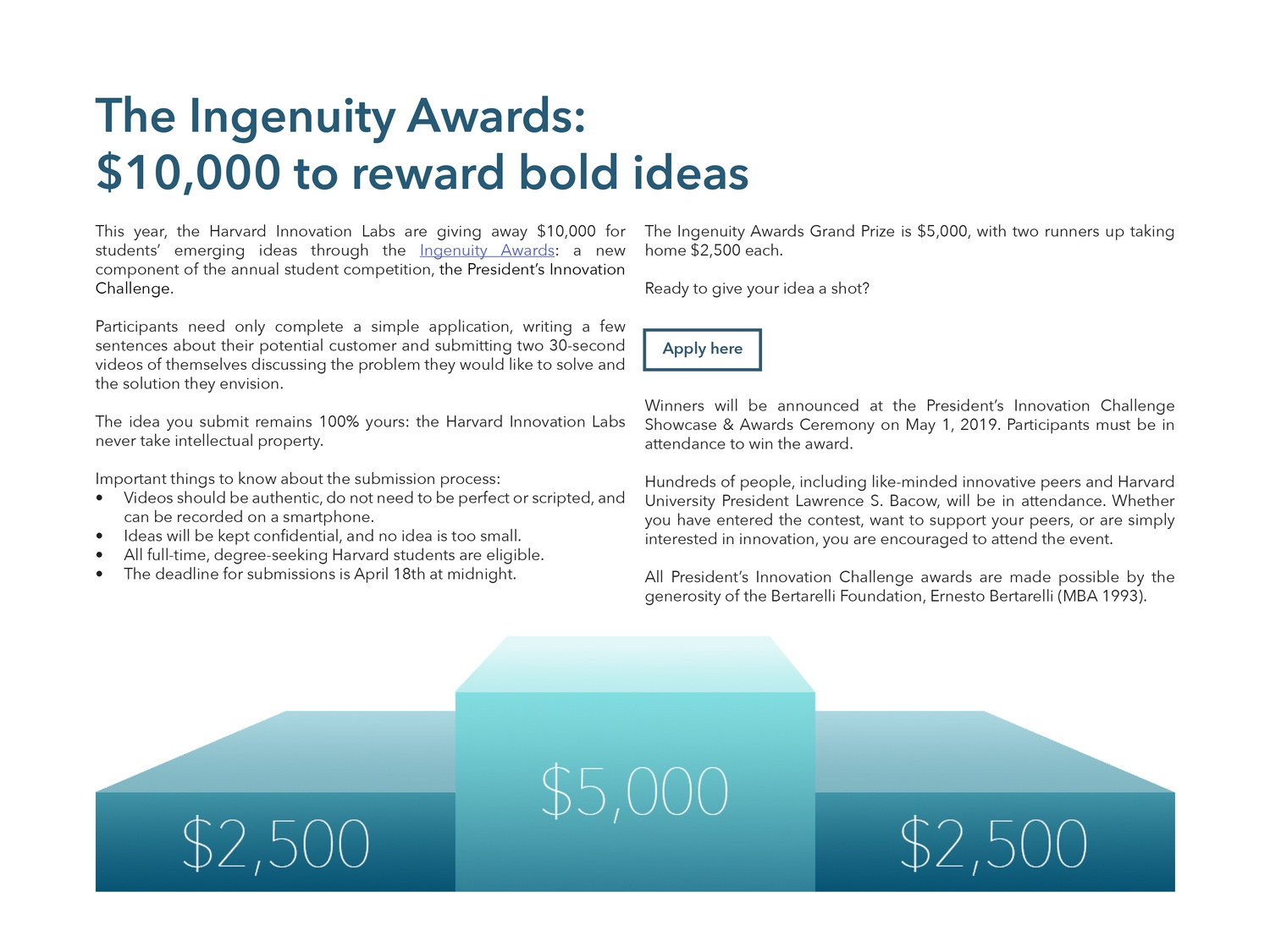 Apply to the Ingenuity Awards!