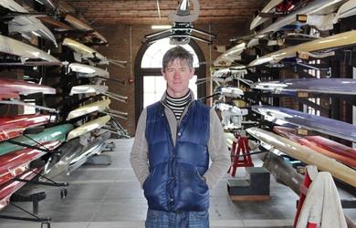 Dan Boyne in Weld Boathouse