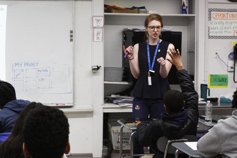 Ellie N. Bridge Teaches a Class