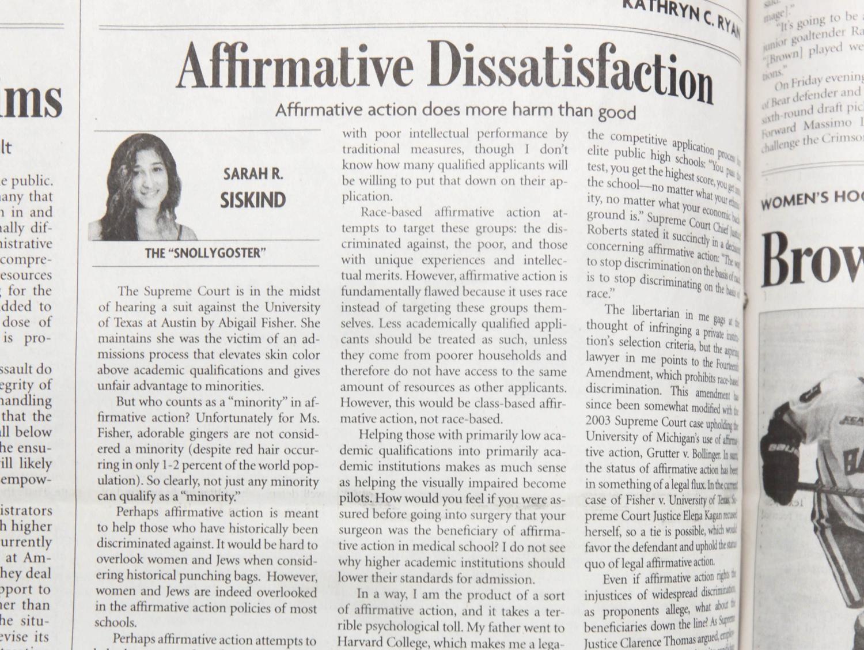 Affirmative Dissatisfaction