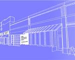 Harvard Square blueprint graphic