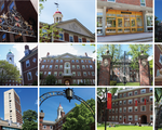 Harvard Houses Collage