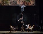 Acrobats in the show 'Passengers'