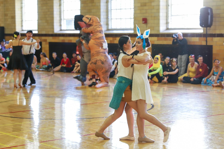 Dancers at Harvard Ballroom Competition