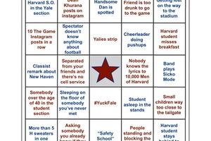 Harvard-Yale Bingo 2019