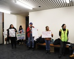Faculty Meeting Protest