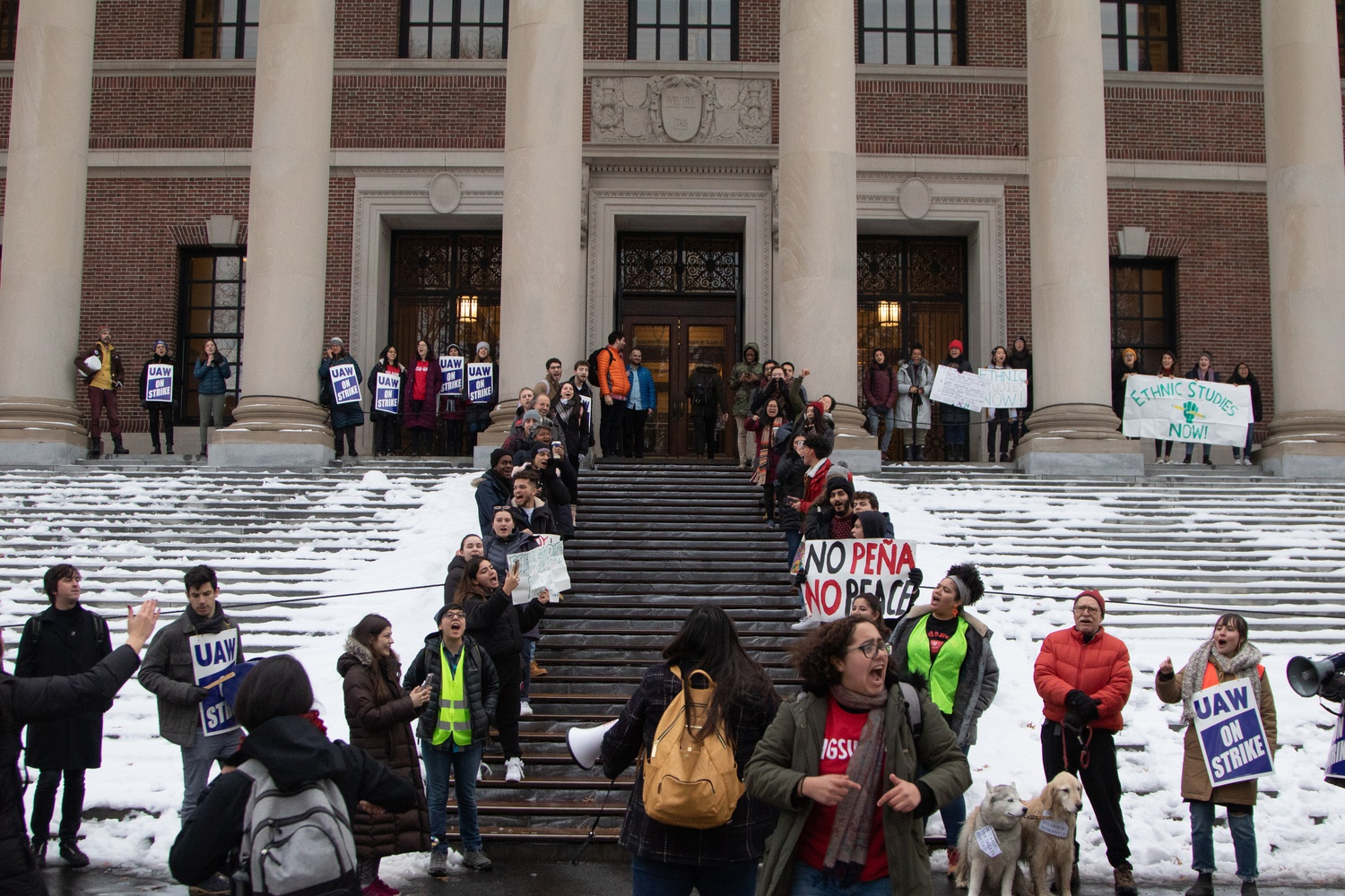 Ethnic Studies Rally at Widener Library