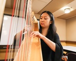 Jessica Ding Playing Harp