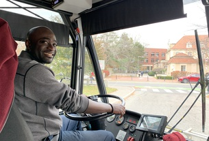 Raymond Quitumba Jr. shuttle driver