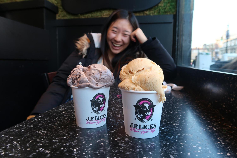 Ellen at JP Licks with ice cream