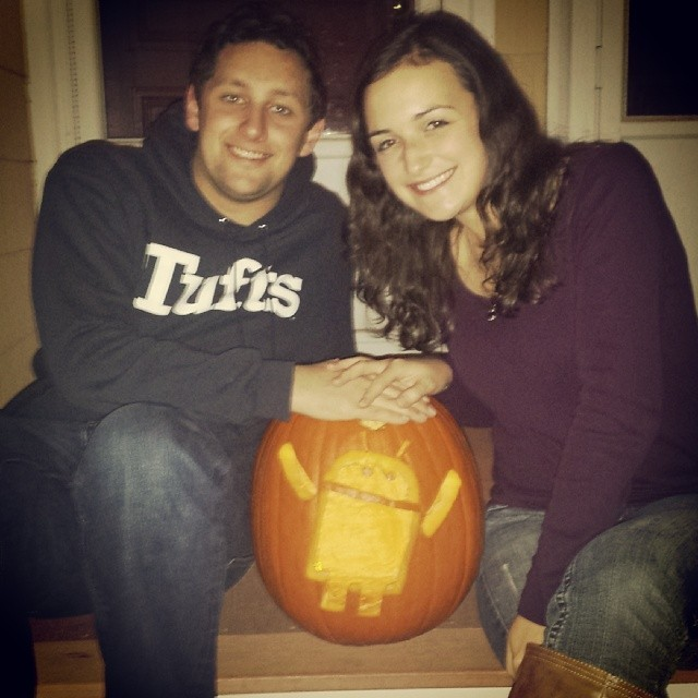 Pumpkin carving at our senior year house!