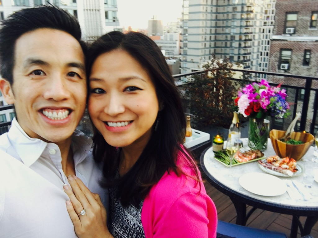 Engaged on our rooftop!