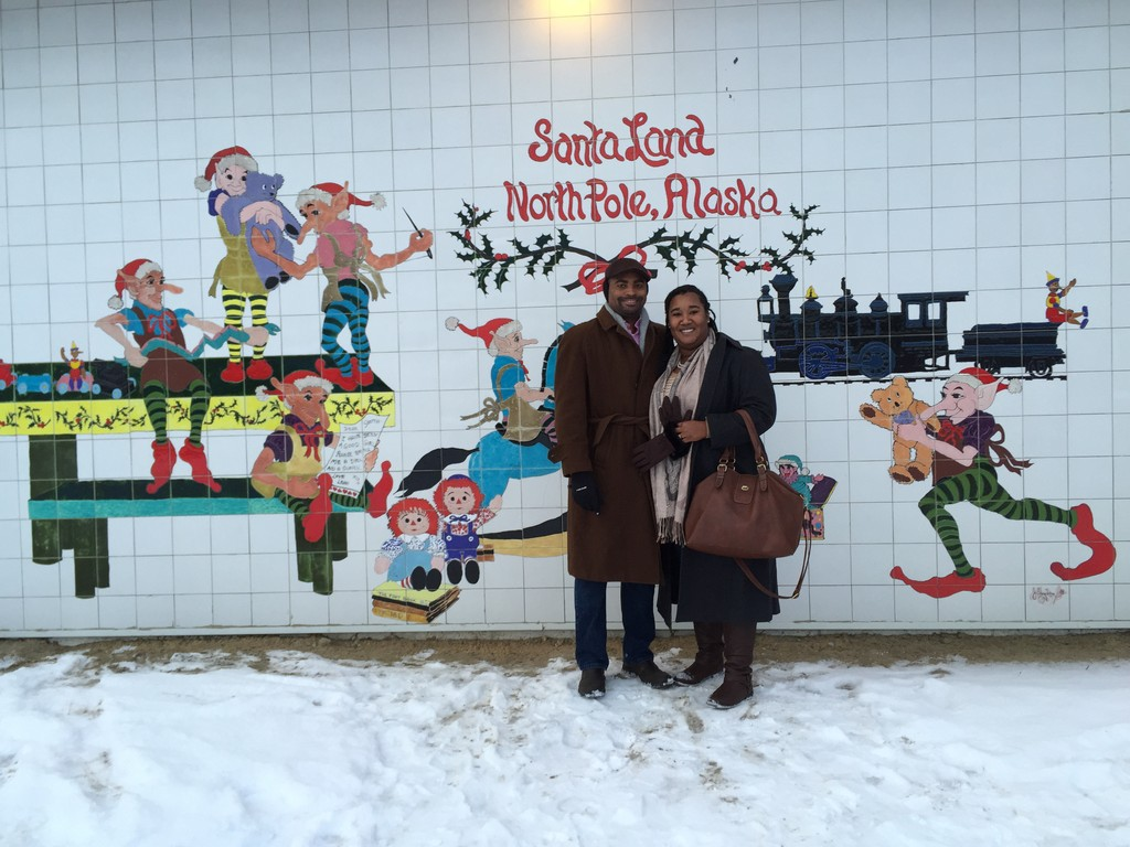 2014: WE survived our first winter in Alaska and visited the North Pole over the holiday season.