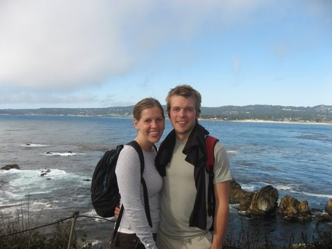 Hiking with Greg's sister Katy on the Coast of California
