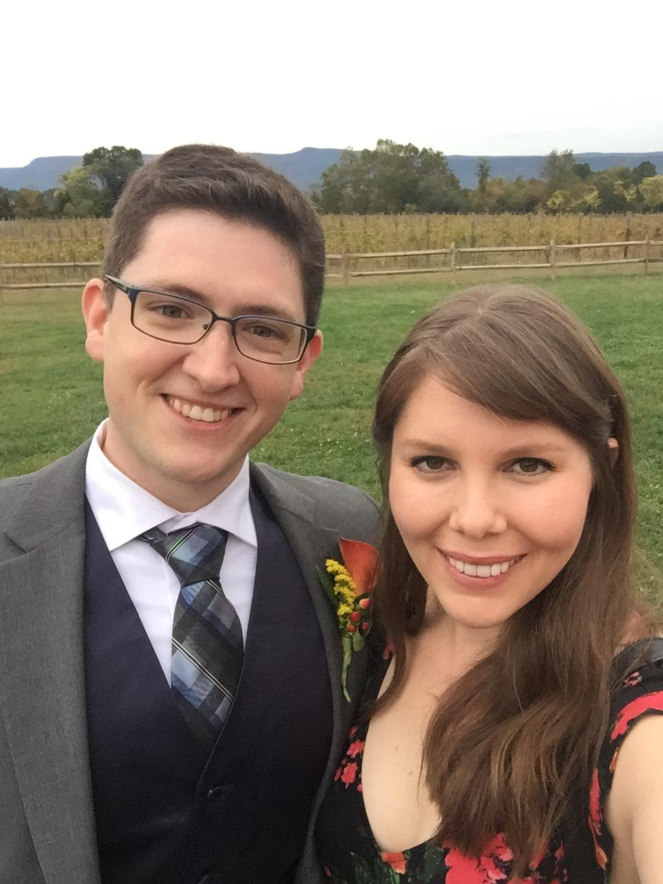 Celebrating our friends' wedding in Virginia (2017)