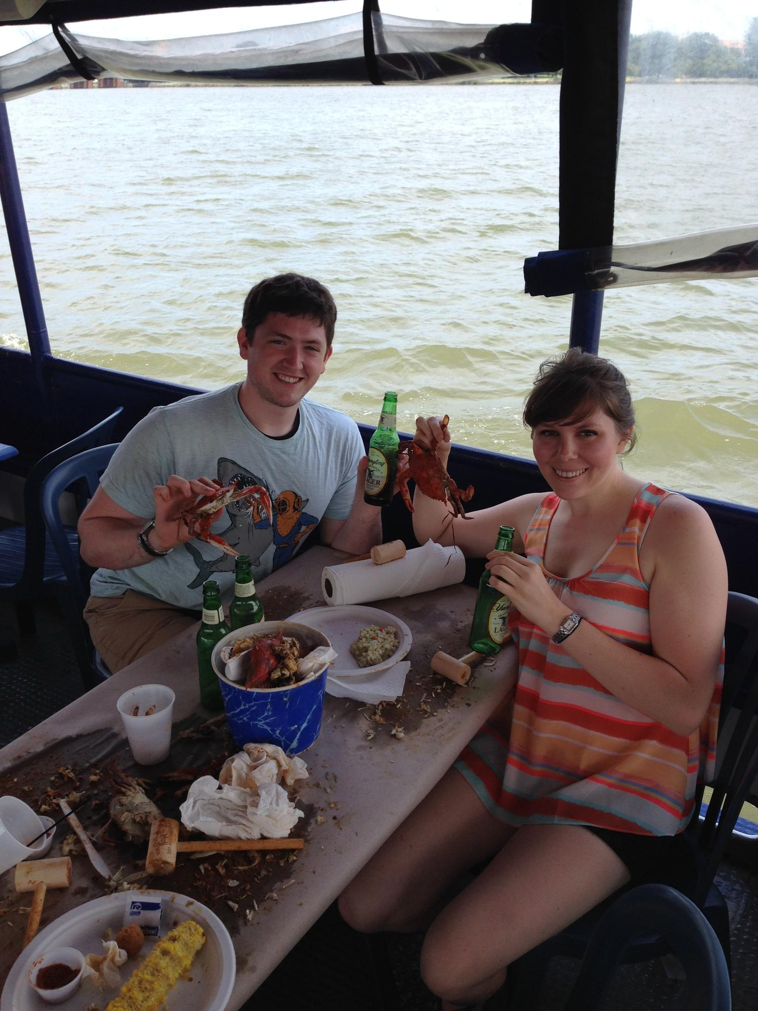 Celebrating Greg's home state with Maryland crabs (2014)